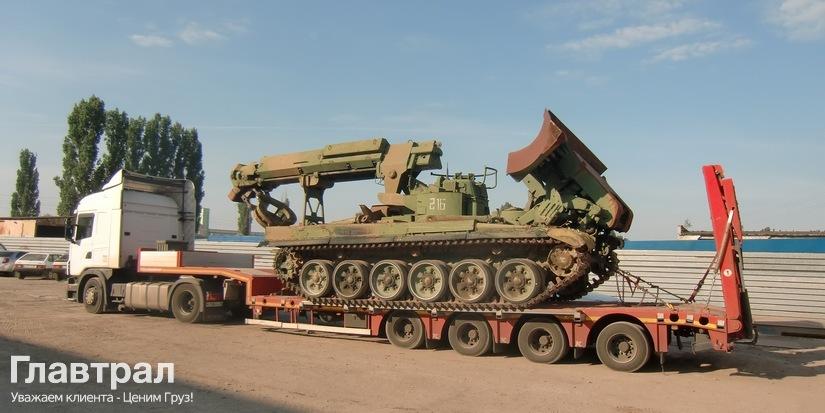Перевозка военных машин