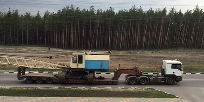 Негабаритные перевозки тралом Москва — Рязань